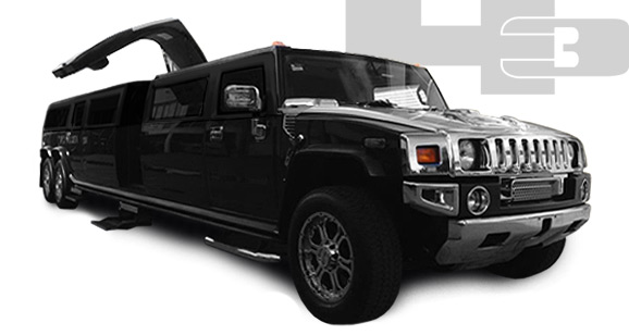 Warsaw Limo Service - Hummer H3 Super Stretch Black